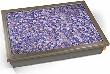KICO Forget Me Nots Purple Flowers Cushioned Bean