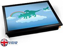KICO Funny Dinosaur Clouds Rainbow Cushioned Bean
