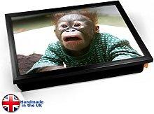 KICO Funny Monkey Cushioned Bean Bag Breakfast Bed