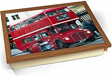 KICO London Double Decker Red Bus Cushioned Bean