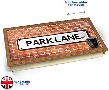 KICO Park Lane UK Street Road Sign Cushioned Bean