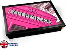 KICO Pink Telephone Box London Cushioned Bean Bag