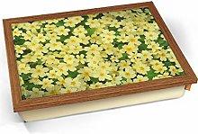 KICO Primrose Yellow Flower Cushioned Bean Bag