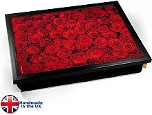 KICO Red Roses Flowers Valentines Cushioned Bean