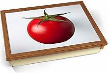 KICO White Tomato on White Pop Art Fruit Cushioned