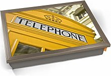 KICO Yellow Telephone Box London Cushioned Bean