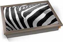 KICO Zebra Animal Skin Cushioned Bean Bag