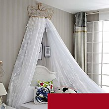 Vosarea Princess Dome Mesh Curtain Netting Canopy Mosquito Net Play Tent for Bedroom