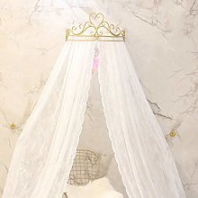 KID LOVE Crown Princess Bed Canopy Lace Mosquito