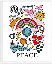 Kid of the Village - 'Peace' Wood Framed