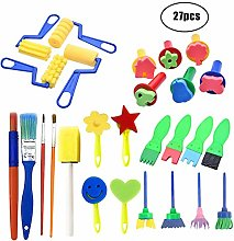 Kid Paint Sponge Brushes Foam Drawing Tool Early