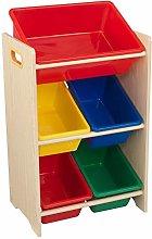 KidKraft 15472 Primary and Natural 5 Bin Storage