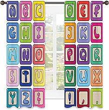 Kids Activity Blackout curtain, Colorful English