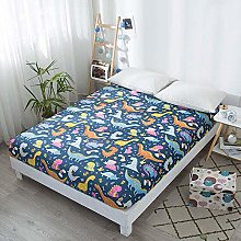 Kids Bed Sheet Dinosaur Printed Fitted Sheet Queen
