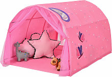 Kids Bed Tunnel Tent Portable Pop Up Playhouse w/