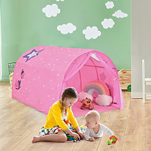 Kids Bed Tunnel Tent Toddler Indoor Outdoor Game