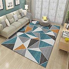 kids bedroom rug area rug Geometric carpet blue