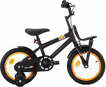 Kids Bike with Front Carrier 14 inch Black and