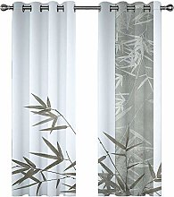 Kids Blackout Curtains Bamboo leaves Thermal