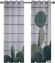 Kids Blackout Curtains Cactus plant Thermal
