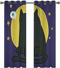 Kids Blackout Curtains Cat animal cartoon cute