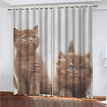 Kids Blackout Curtains Cat animal cute Thermal