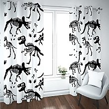 Kids Blackout Curtains Dinosaurs animals Thermal