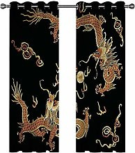 Kids Blackout Curtains Dragon Thermal Insulated
