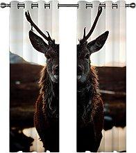 Kids Blackout Curtains Elk animal Thermal