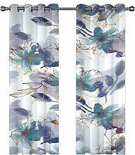 Kids Blackout Curtains flower Thermal Insulated