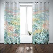 Kids Blackout Curtains Flowers scenery Thermal