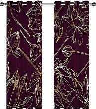 Kids Blackout Curtains Lotus Thermal Insulated