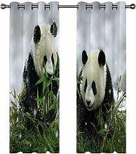Kids Blackout Curtains Panda animal cute Thermal