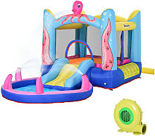 Kids Bouncy Castle Slide & Swimming Pool Combo