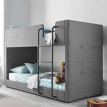 Kids Bunk Bed, Happy Beds Saturn Grey Fabric