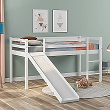 Kids Cabin Bed Frame, Childrens' Bunk Bed with