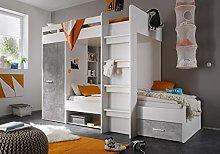 Kids Children Bedroom Cabin Bed MAX Wardrobe