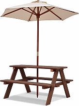 Kids Children Garden Picnic Table Bench Umbrella