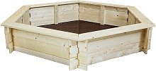 Kids Children Outdoor Hexagonal FSC Wood Sand Pit