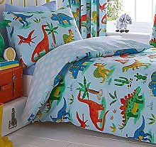 Kids Club Dinosaurs Fully Lined Pencil Pleat