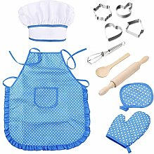 Kids Cooking and Baking Set,11 PCS Chef Costume