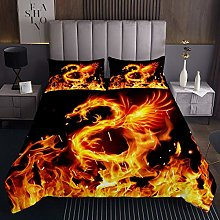 Kids Coverlet Set Fire Dragon Quilted Bedspread