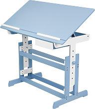 Kids desk with drawer - blue