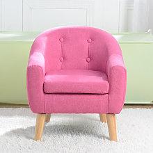 Kids Double Sofa, Mini Children Linen Armchair