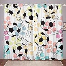 Kids Football Window Curtain Sports Theme Curtains