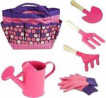 Kids Gardening Tool Set with Gloves Shovel Rake
