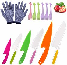 Kids Knife, Joyoldelf 6 Pieces Kitchen Knife Set