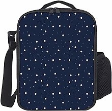 Kids Lunch Backpack Insulated Snowflakes Pattern