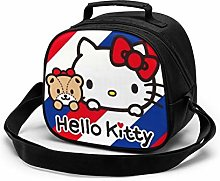 Kids Lunch Bag, Hello Kitty Red Blue Reusable