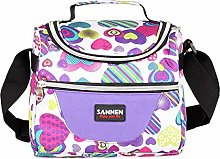Kids Lunch Bag Thermal Insulated Picnic Cooler Box